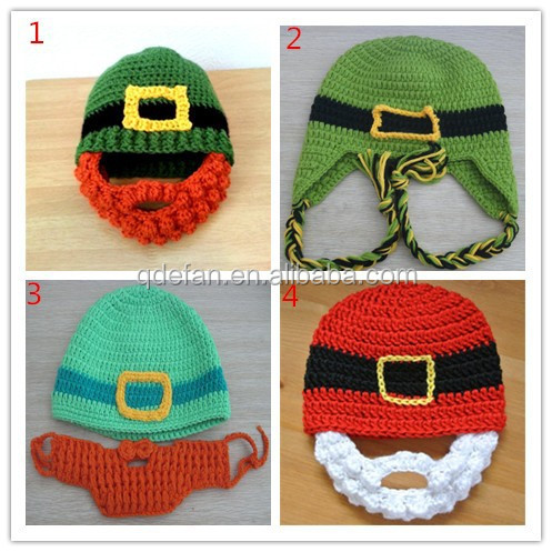 Free Crochet Pattern Christmas Baby Hat : Christmas Baby Gift Knitted Kids Winter Hats Free Crochet ...