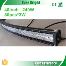 Unique Curved Led Light Bar 80pcs*3W 240W 40inch arc-shaped arced camber led light bar 40 inch led light bar Arced Led Light Bar