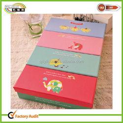Colorful display luxury socks and underwear storage boxes