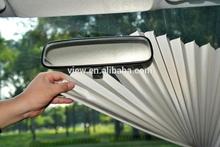 universal parasol del coche 65cm L 15cm W echas de pet pe de fibra de poliéster la tela con la etiqueta engomada del imán