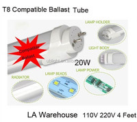 Compatible Ballast 4 Feet T8 LED tubes japanese red tube