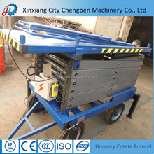 SJY 4~20m electric hydraulic scissor lift, customized size available