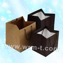 Eco-friendly Cheap Custom kraft paper bag for food shopping