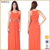 Tank Sleeve Elegant Dresses Maxi Ladies Casual Dresses Pictures