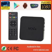 2015 new arrival mxq Amlogic s805 mxq ott box 4k 3d android 4.4 tv box