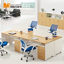 Fashion Style 4 Seat Office Workstation Office Table Design