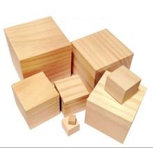 Smoothly Sanded Pine wood block 2 inch wood cubes natural custom wood blocks