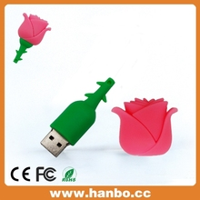 best valentine's day gift rose shape usb flash drive