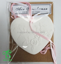 Hot Sale Wholesale Scented Ceramic Charm,Pottery Flower Air Freshener,Flower Clay