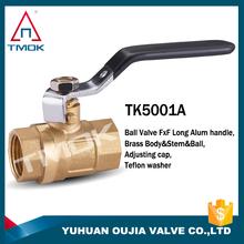 1/2'' High quality BSP Thread brass ball valve,FULL Port 600 WOG equal shape brass ball valve