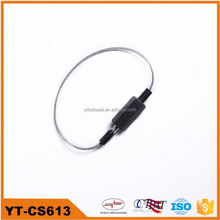 2014 YUTONG popular pull tight fixed length cable lock with ABS plastic wrapping