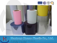 hot blue rigid pvc sheets clear plastic pvc film roll for toy packing