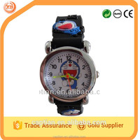 carton design children silicone wristwatch