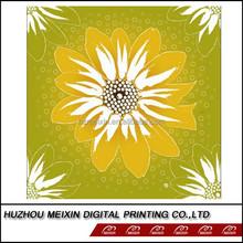 Cotton sunflower print fabric fleece