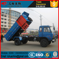 DongFeng 4X2 side loading hanging bucket garbage truck widely used for sale