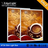 Edgelight New Generation Shop Mall Advertise edge-lit clip light box with Long Lifespan
