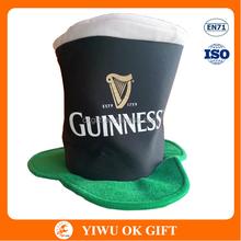Party Wholesale Guinness Saint Patrick Day Velvet Hat