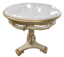 Alibaba Antique French Marble Top Wooden End Table