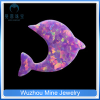 dolphin cut synthetic loose jewelry gems with hole/wholesale silver jewelry opal stone
