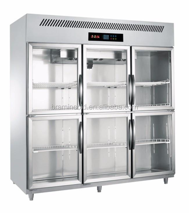 Stainless Steel Restaurant Fridge 6 Door Upright Freezer