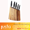 new products stainless steel kitchen knife set with wood stand