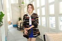Unique Design Brand Mink Fur Coat For Girls Apparel Stripes Natural Mink Fur Garment