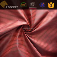 F-063 nylon taffeta twill plaid fabric