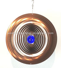 wind spinner--Circle with gazing ball.