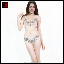 Full cup beautiful pattern yellow color fat women underwear bra sex girls images