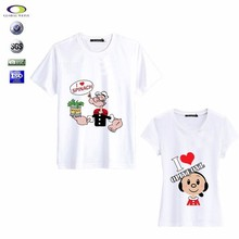 2013 cute cartoon couple t-shirt and the t-shirt manufacturer lahore pakistan