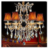 Beautiful modern solar high-end classic crystal chandelier table lamp