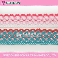 shoe laces ribbon/ribbon yarn lace/wholesale cotton lace for craft