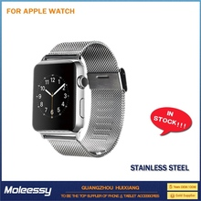 elegant stainless steel binding strap for apple watch