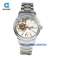 Women watches 2015 model skeleton flower mechanical wrist watch