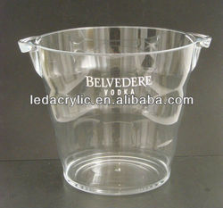 NEW Rare Large Belvedere Vodka Acrylic Ice Bucket Cooler with Handles