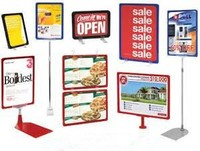 High Quality A4 Display Stand Poster Rail Sign Poster Fram