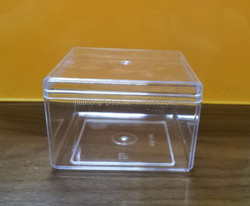 Clear plastic food grade box container