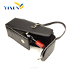 China supplier portable pu leather wine carrier