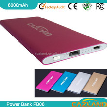 2015 new high quality with led light led torch light portable power bank luggag