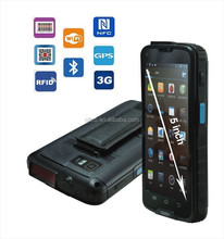 5 inch android data collector handheld with 1D/2D barcode reader, NFC, gps ,wifi, 3G