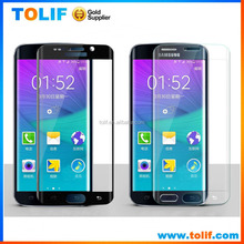 New Arrival! For samsung galaxy s6 edge curved full cover tempered glass protector with crystal box packaging and barcode 0.2mm
