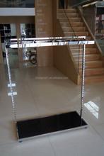 Nice stainless steel garment storage rack / big clothing shelf rack
