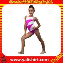 2015 wholesale popular new design contrast color cotton/lycra gymnastic girls in leotards pics