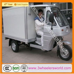 Chongqing Cooling Box Tricycle/Refrigerator Tricycle Closed Cargo Box