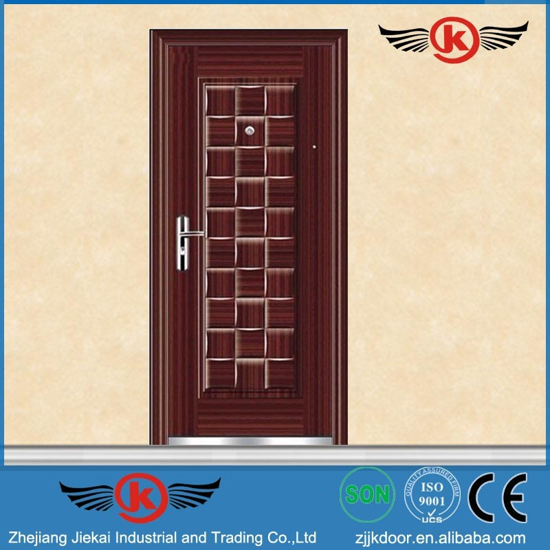 Jiekai s9028 cheap front doors steel entry doors for Cheap exterior doors for home