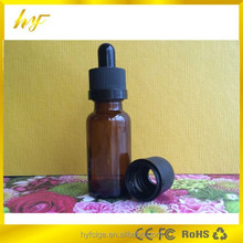 promotion product 15ml amber boston glass dropper bottle with plastic child resistant and tamper evident cap from China supplier