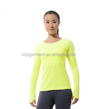 Bulk Women sports compression long sleeve t shirt women's fitness running cycling gym jersey clothes quick dy thermal base layer