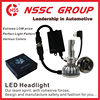 NSSC motor headlight hid replacement powered led headlight cheap 9-32V led lights for car