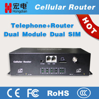 Industrial cellular wireless modem with dual module
