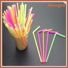 potable de plástico flexible paja